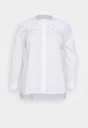 OVERSIZE COLLAR - Bluser - white