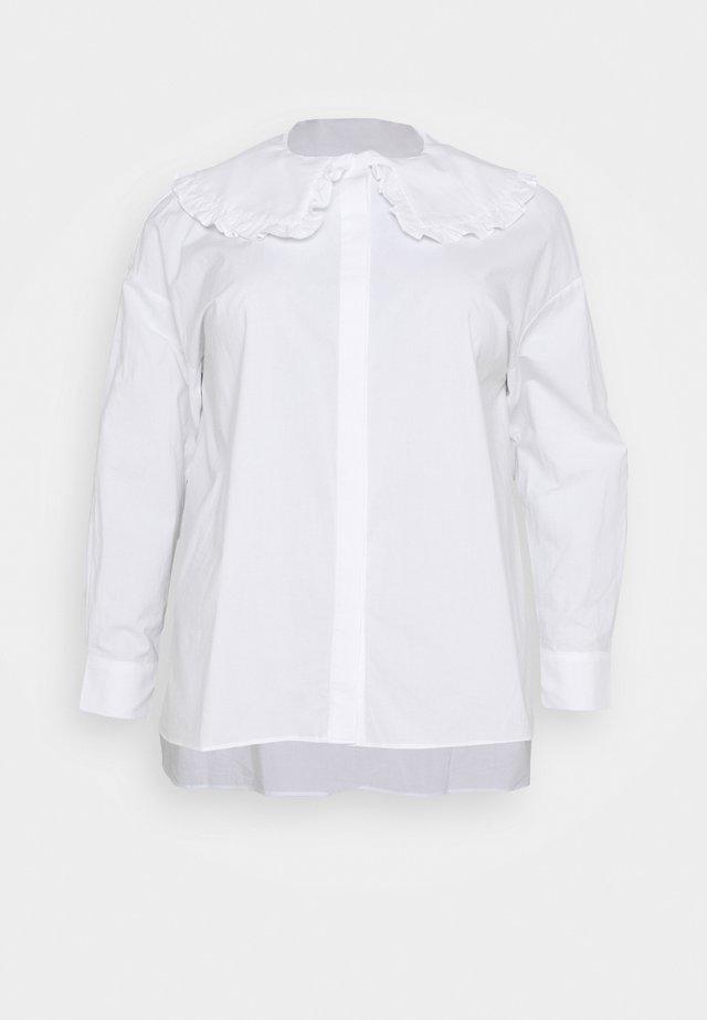 OVERSIZE COLLAR - Blouse - white