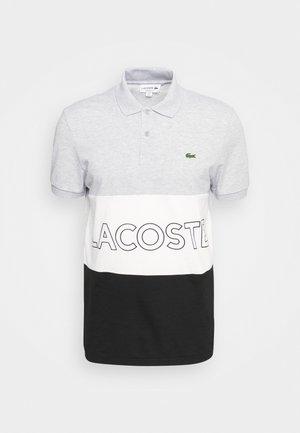 Polo shirt - argent chine/blanc noir