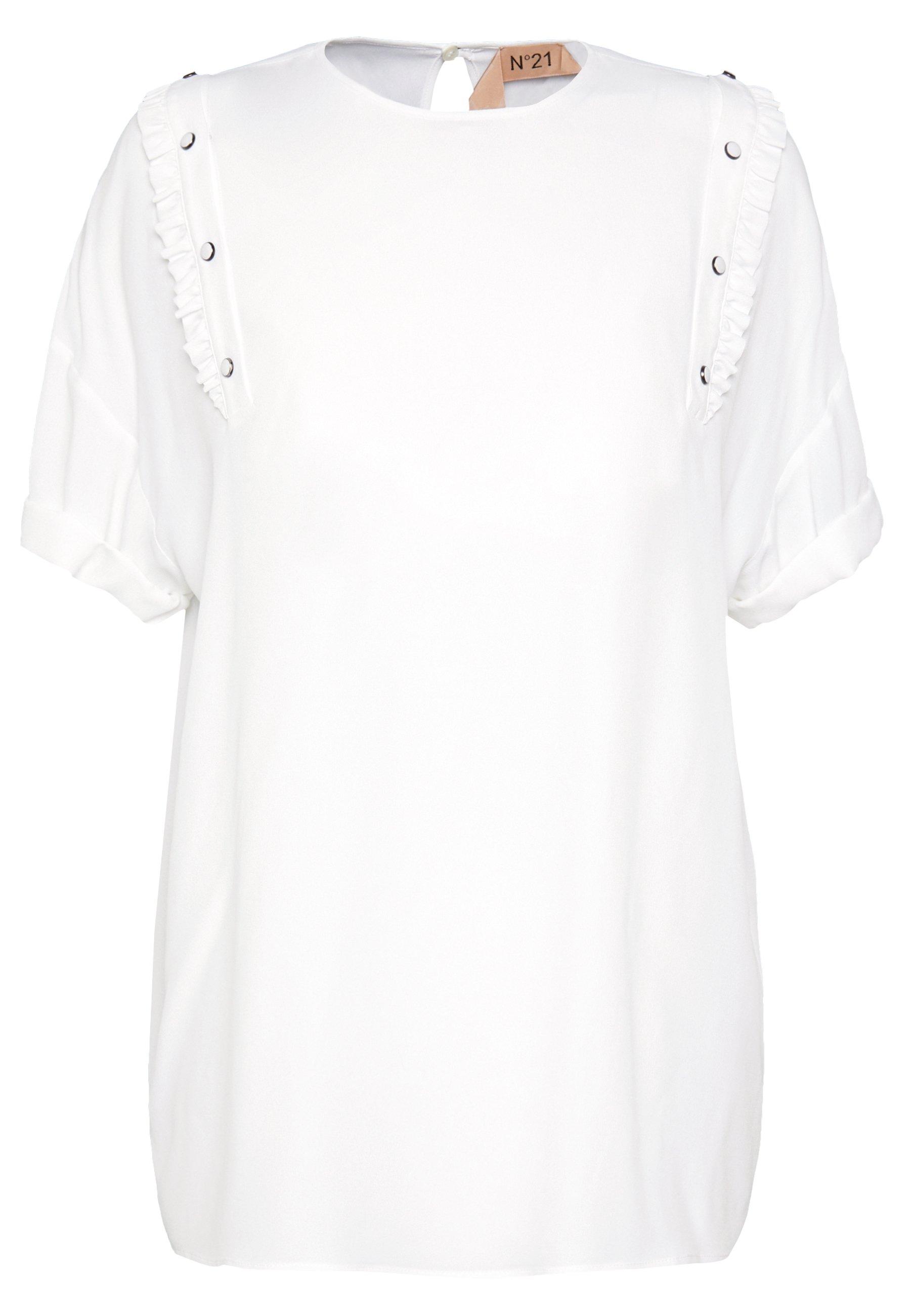 WHITE Shirt with logo  N21  Skjorter & bluser - Dameklær er billig