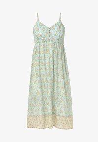 OYSHO - TURQUOISE INDIAN COTTON NIGHTDRESS - Day dress - turquoise - 5