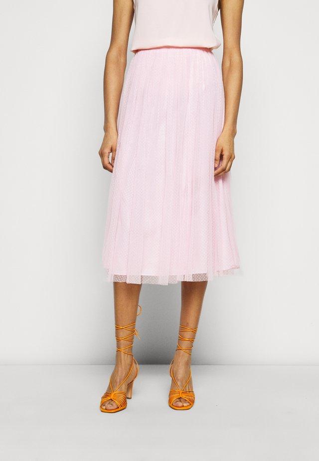 MIDI SKIRT - A-line skirt - pale pink