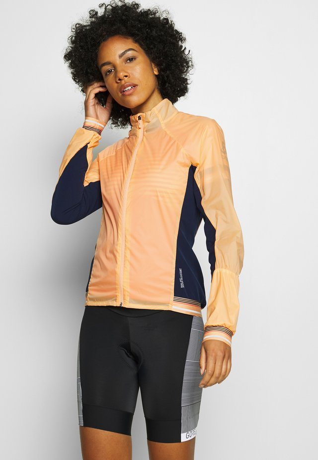 JACKET ZEROWEIGHT DUAL DRY - Veste coupe-vent - papaya/diving navy