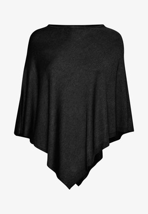 FAZUBASIC 1 PONCHO - Cardigan - black