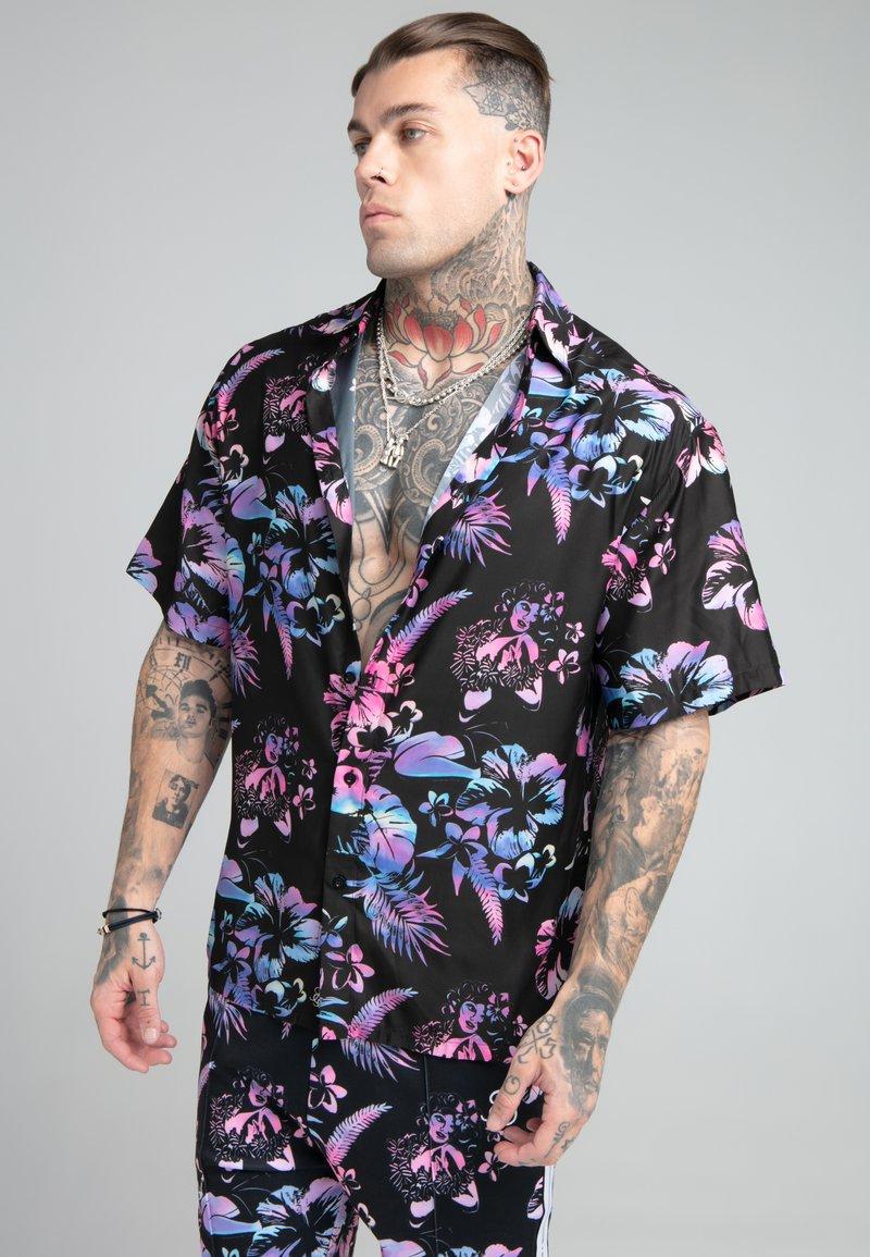 SIKSILK - HAWAII RESORT SHIRT - Shirt - black