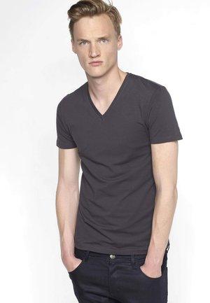HERREN-BASIC T-SHIRT - Basic T-shirt - blended dark grey