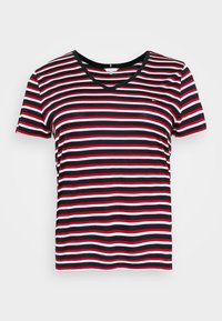 Tommy Hilfiger Curve - RELAXED V NECK - Basic T-shirt - ombre/red/white/blue - 3