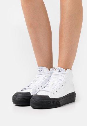 NIZZA PLATFORM - High-top trainers - footwear white/core black