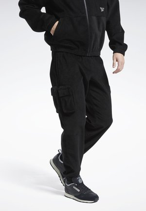 CLASSICS CORDUROY TRACK TROUSERS - Tracksuit bottoms - black