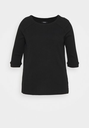 CREW NECK LONGLINE - T-shirt à manches longues - black