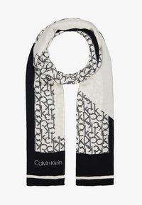 Calvin Klein - GEO QUILT SCARF - Foulard - black - 1