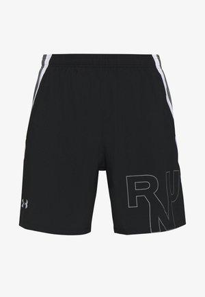 M UA LAUNCH SW 7'' GRAPHIC SHORT - Pantalón corto de deporte - black/pitch gray/reflective