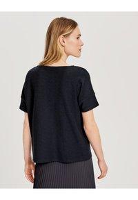 Opus - SIGRONE - Basic T-shirt - dark blue - 1