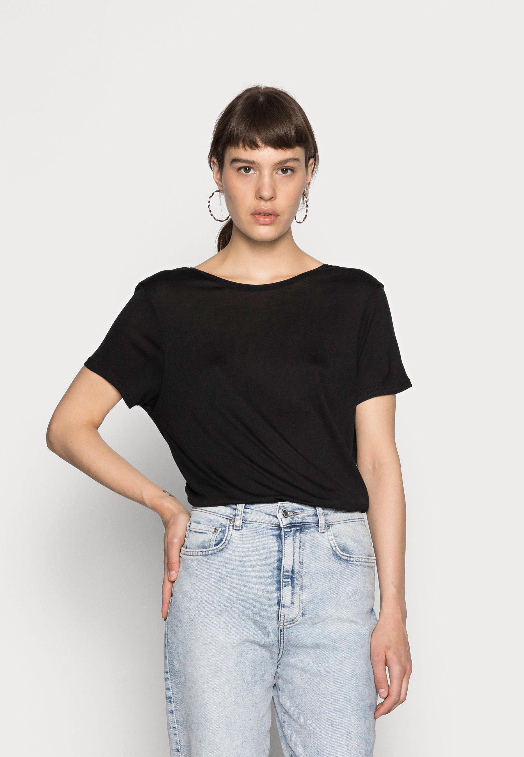 Damen DEEP BACK TEE 2 PACK - T-Shirt basic