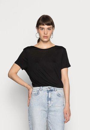 DEEP BACK TEE 2 PACK - Basic T-shirt - black/white