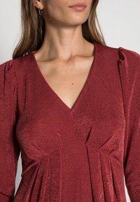 Closet - V NECK DRESS - Jersey dress - burgandy - 4