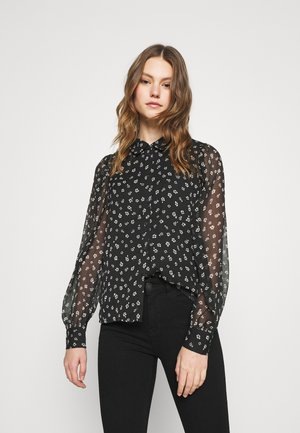 VMALMINA - Button-down blouse - black