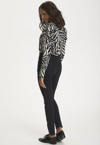 Kaffe - Long sleeved top - black/beige zebra print - 2