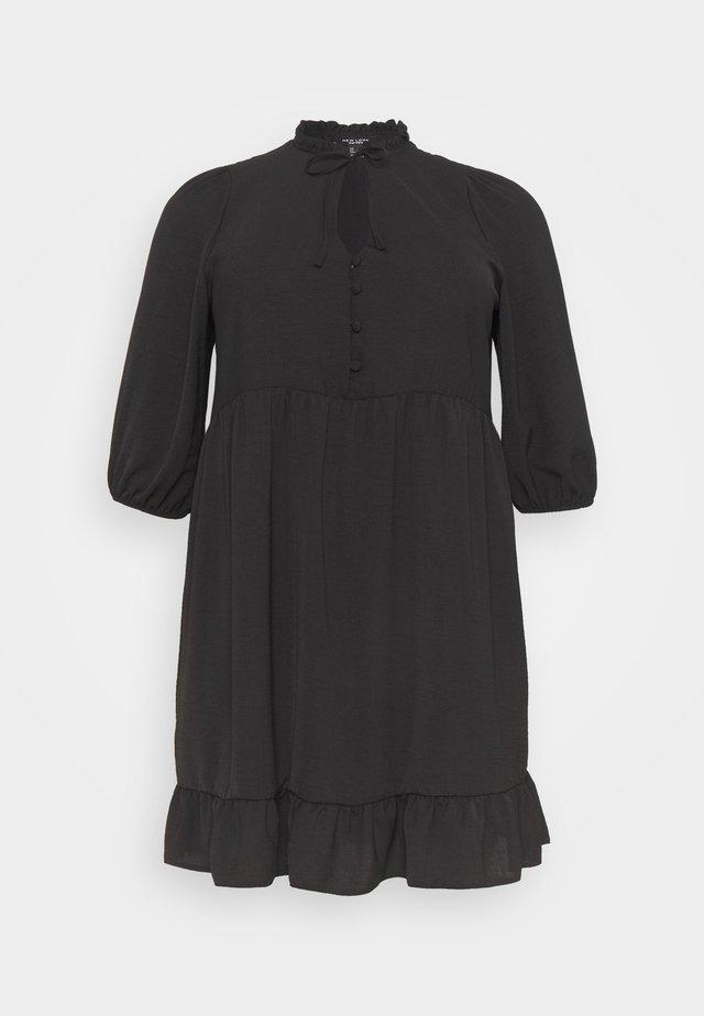 HERRINGBONE SMOCK DRESS - Freizeitkleid - black