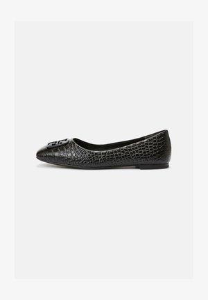 GEORGIA BALLET - Ballet pumps - black croc