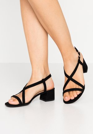 WIDE FIT RULIE MULTI STRAP BLOCK HEEL  - Sandales - black