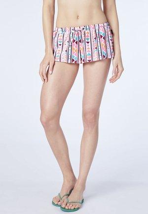 Swimming shorts - orng/l blue aop