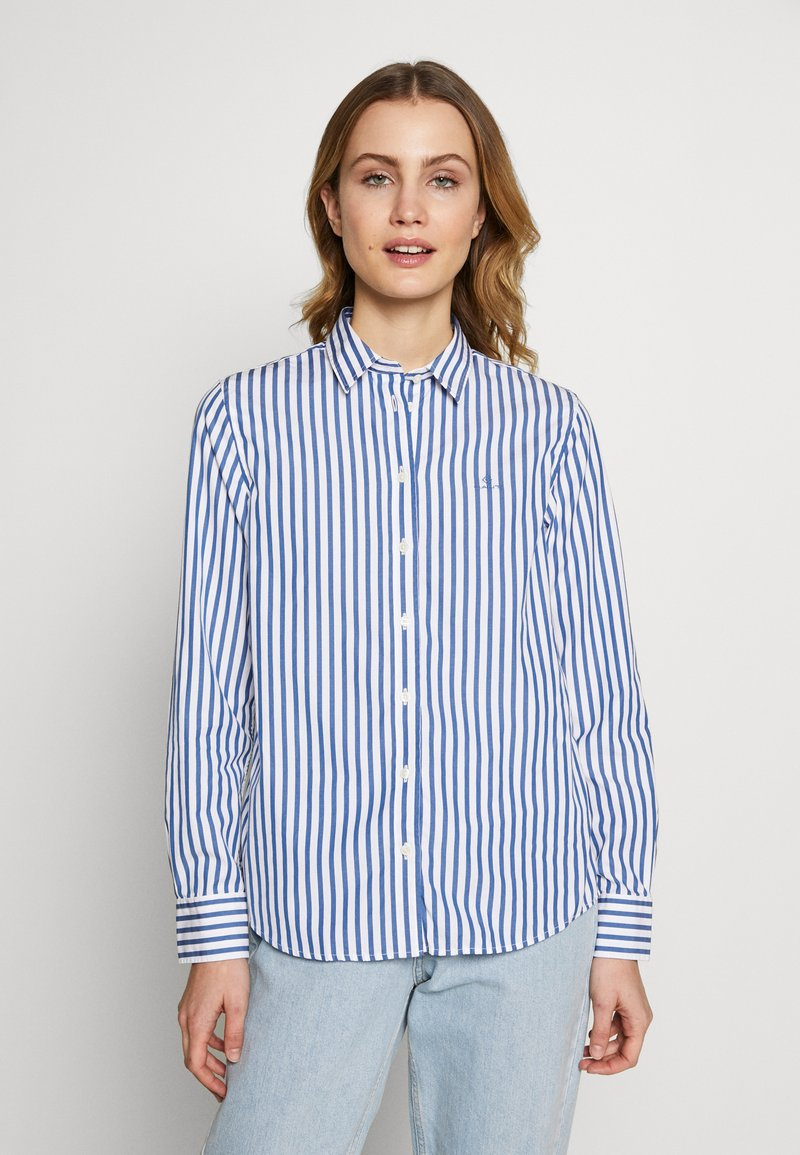 GANT - THE BROADCLOTH STRIPED - Button-down blouse - bright cobalt