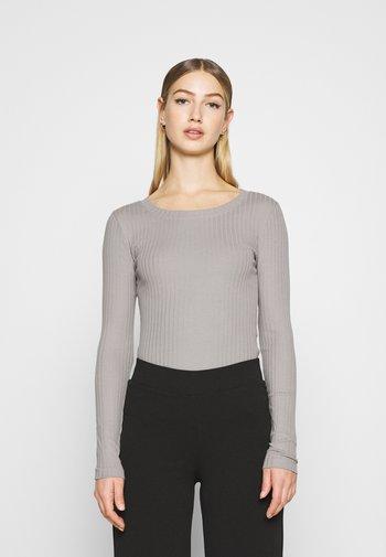 Topper langermet - grey