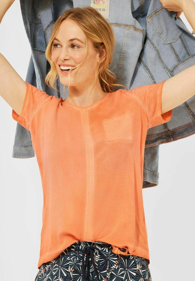 Cecil - Print T-shirt - orange