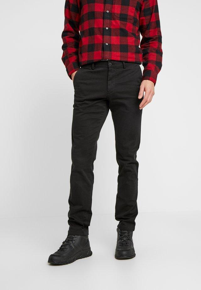 BLEECKER - Chino kalhoty - black