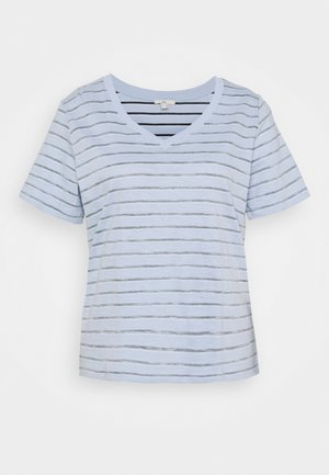 STRIPE - Print T-shirt - light blue