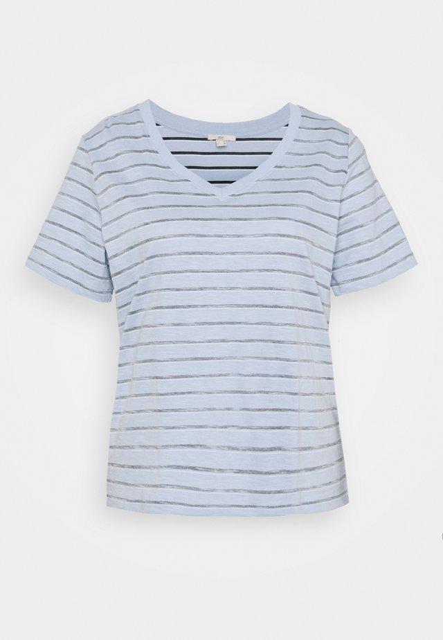 STRIPE - Print T-shirt - light blue