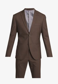 Isaac Dewhirst - PLAIN SUIT - Oblek - brown - 8