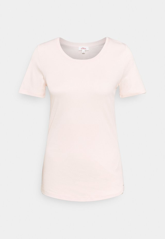 KURZARM - Jednoduché triko - light blush