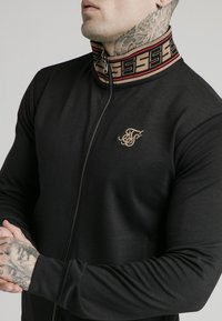 SIKSILK - DISTINCTION JACQUARD ZIP THROUGH TRACK - Cardigan - black - 4