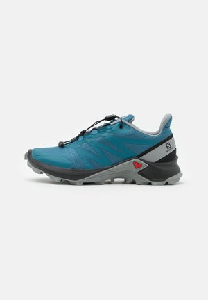 SHOES SUPERCROSS  - Hiking shoes - mallard blue/black/monument