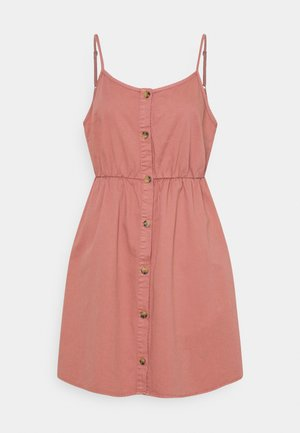 VMFLICKA STRAP SHORT DRESS COLOR - Denim dress - old rose