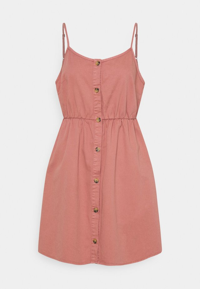 VMFLICKA STRAP SHORT DRESS COLOR - Denimové šaty - old rose