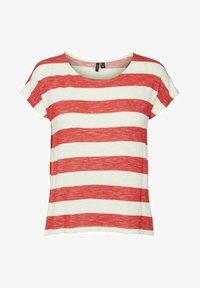 Vero Moda - VMWIDE STRIPE TOP  - Camiseta estampada - goji berry - 4