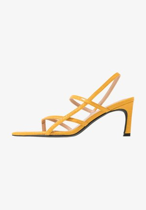 POINTY SOLE TOE STRAP  - Sandały - yellow
