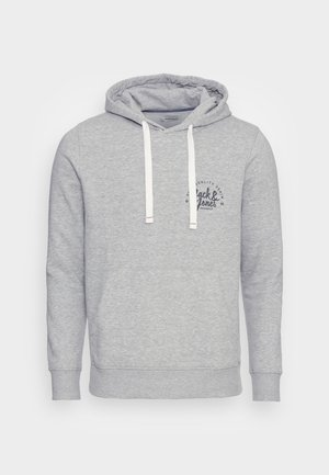 JJKIMBEL HOOD - Sweatshirt - light grey melange