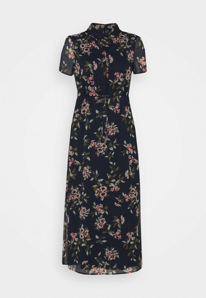 Vero Moda Petite - VMKAY ANKLE SHIRT DRESS PETITE - Długa sukienka - navy blazer