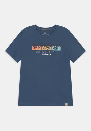 JORCABANA CREW NECK  - Print T-shirt - ensign blue