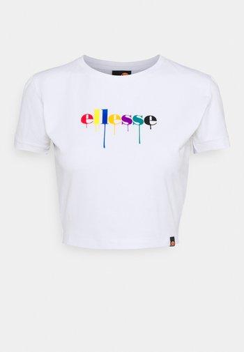 ROMANCIA CROP - Camiseta estampada - white