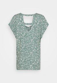 TOM TAILOR DENIM - V NECK  - Print T-shirt - mineral blue - 1