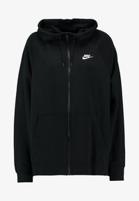 Nike Sportswear - HOODY PLUS - Zip-up hoodie - black/white - 3