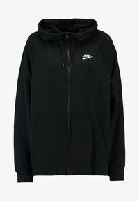 HOODY PLUS - Zip-up hoodie - black/white