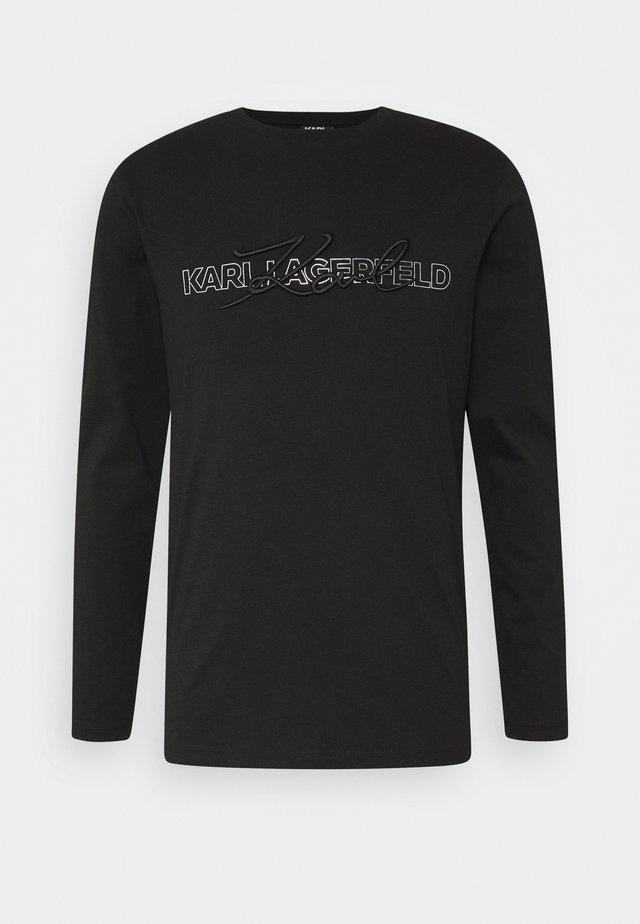 CREWNECK - T-shirt à manches longues - black/silver