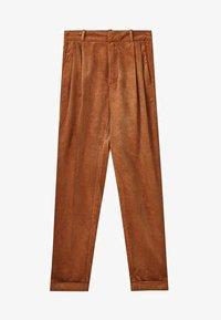 Massimo Dutti - MIT BUNDFALTEN - Trousers - brown - 6