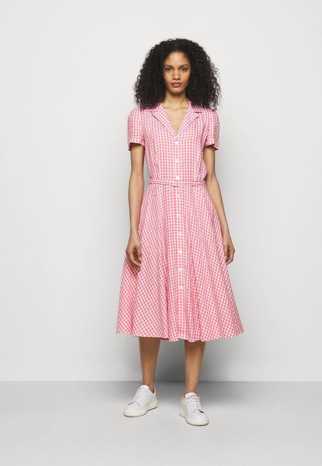 GINGHAM - Shirt dress - ribbon pink